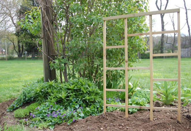 homemade wooden trellis